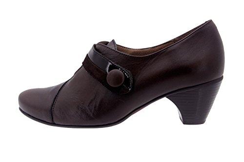 Chaussure femme confort en cuir Piesanto 3406 casual comfortables amples Caoba