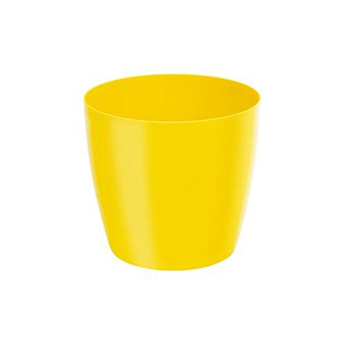 Classique luisant cache-pot LOBELIA, 16 cm, en jaune