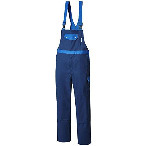 Pionier 2428-64 Stretch Latzhose Top Comfort, Marineblau / Königsblau, 64