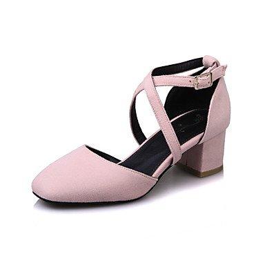LYNXL Talloni delle donne Primavera Estate altro vestito similpelle tacco grosso Altri Nero Rosa Grigio Black