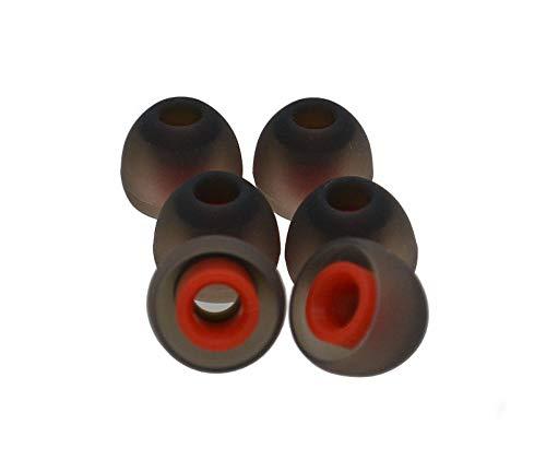 KRS STP Rot/Schwarz x Aufsatz In-Ear Gummi Silikon Ohrpolster Ersatz Große M für Fast alle In-Ear Headset, Kopfhörer z.B von LG, Samsung, BlackBerry, Nokia, Sony Ericsson, Mpow, Motorola u.s.w. (Rot) thumbnail