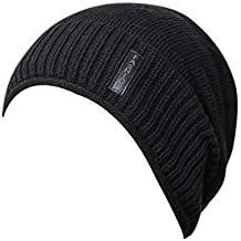 a9247cac29dd Rovinci Hommes Chaud Bouffant Weave Crochet Hiver Plus Velours Tricot de  Laine Bonnet De Ski Décontractée