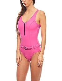 bb3ff56eb286 Heine Kurvenfreundlicher Shaping Badeanzug Sommer-Bademode Schwimmanzug D-Cup  Große Größen Pink