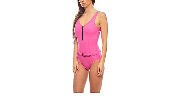 Kurvenfreundlicher Shaping Badeanzug Sommer-Bademode große Oberweite Pink heine