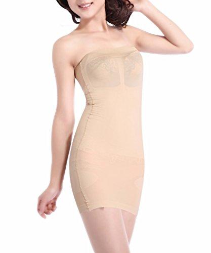 figurformendes Damen Miederkleid trägerlos. Bodyformer Figurformer Unterhemd hautfarben