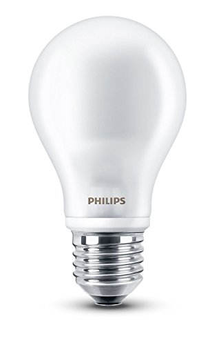 Philips LED, LED-Lampe Standard matt, 7W (60 W), Fett E27, warmes Weiß