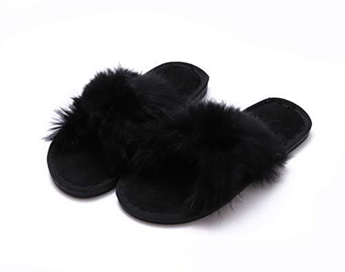 Slippers nuove pantofole autunno e inverno in cotone da donna casual infradito casa pantofole calde interne,2,m