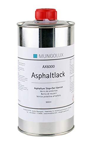 Asphaltlack Abdecklack für Radierung   Tiefdruck   Modellbau und Schmuck 500 ml