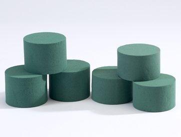 Mousse cylindrique pour montages/arrangements floraux x 10