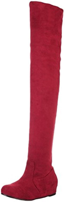 Nonbrand Damen Keilabsatz synthetischer über Knie Stiefel