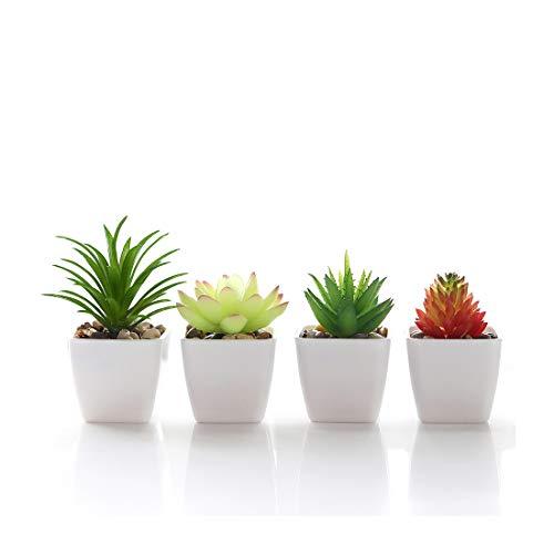 Veryhome Fake Suculentas Plantas Artificiales En Macetas