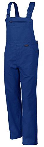 Qualitex Arbeits-Latzhose BW 270 - Größe: 62 - kornblau - Handwerker 8 Fach