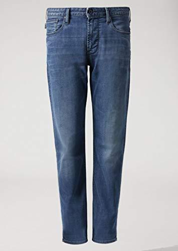 Armani uomo j06 slim fit jeans 50 regolari blu denim