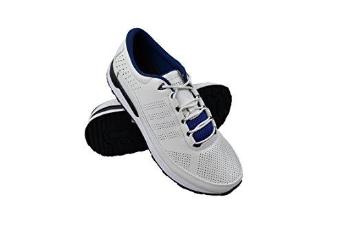 Zerimar Scarpe da Golf Fabbricati in Pelle Bovina Sport e Confortevole  Casual Running Bianco 07b148cf32f