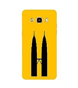 PrintVisa Designer Back Case Cover for Samsung Galaxy J5 2016 :: Samsung Galaxy J5 2016 J510F :: Samsung Galaxy J5 2016 J510Fn J510G J510Y J510M :: Samsung Galaxy J5 Duos 2016 (Vector Of Twin Towers)
