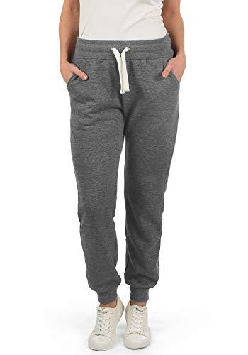 DESIRES Derby Damen Sweathose Sweatpants Relaxhose Mit Fleece-Innenseite Und Kordel Regular Fit, Größe:M, Farbe:Grey Melange (8236)