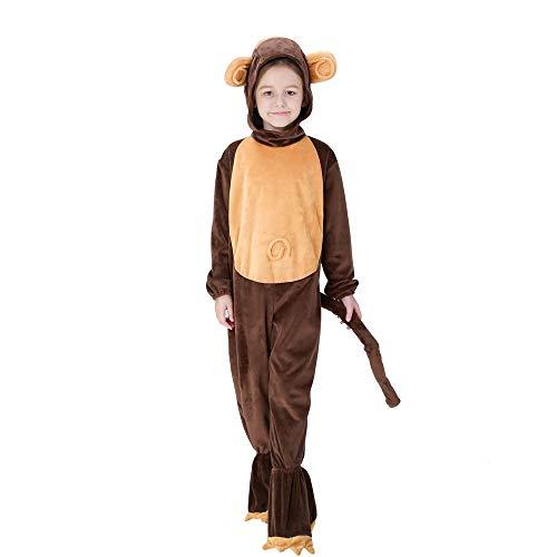 Kostüm Affen Piraten - FDHNDER Child Cosplay Kleid Verrücktes Kleid Partei Kostüm Outfit AFFE geladene Kinder Spielen Kinderkleidung, L- (Höhe 125-135)