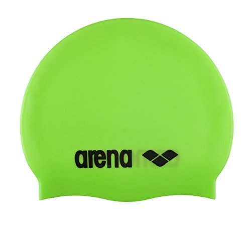 arena Unisex Badekappe Definitive Silicone, Acid-Lime-Black, One size,91662