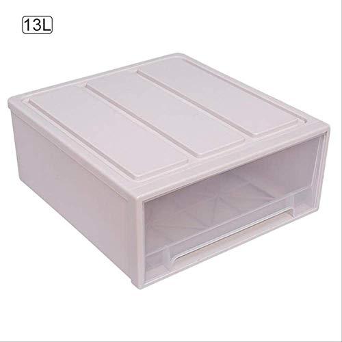 wsedf Aufbewahrungsbox Locker Schublade Kunststoff Lagerung Organizer Staub Schrank Lagerung Box Schlafzimmer Schrank Veranstalter Hause Dekoration 13L Beige 13L (Rubbermaid-schublade Veranstalter)