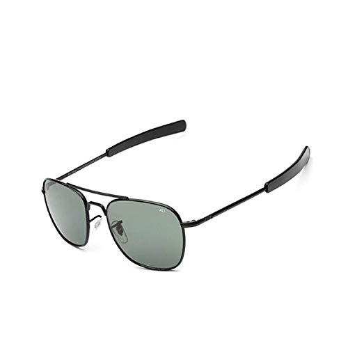 Sport-Sonnenbrillen, Vintage Sonnenbrillen, Pilot Sun Glasses For Men AO Sunglasses Aviation Zonnebril Mannen Douglas Macarthur Glasses Oculos Lunette De Soleil Homme Sol Black-Gray