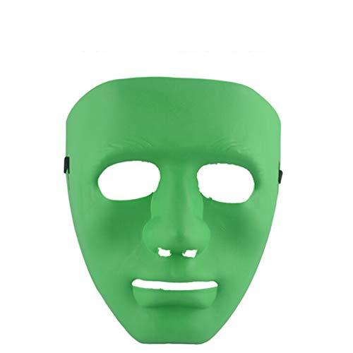Und Kreative Kostüm Billig - Laile Halloween Masken Kunststoff Vollgesichtsdekoration Handwerk Halloween Schule 19x19cm Persönlichkeit Kreative Freie Design Maske (V Gesicht) Party Festival Ideale Maske