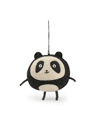 - Figur Panda Filz für mobile Kinder, Freizeit Kreative–100% Wolle Natürliche–handgefertigt–Handel solidarische, Filz, Rond