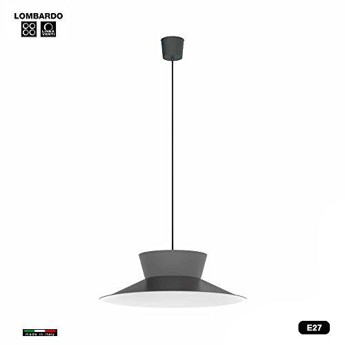 Vintage 35 Hängeleuchte E27 anthrazit / weiß - Made in Italy (Bar Bauhaus)