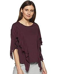 VERO MODA Women's Plain Regular Fit T-Shirt
