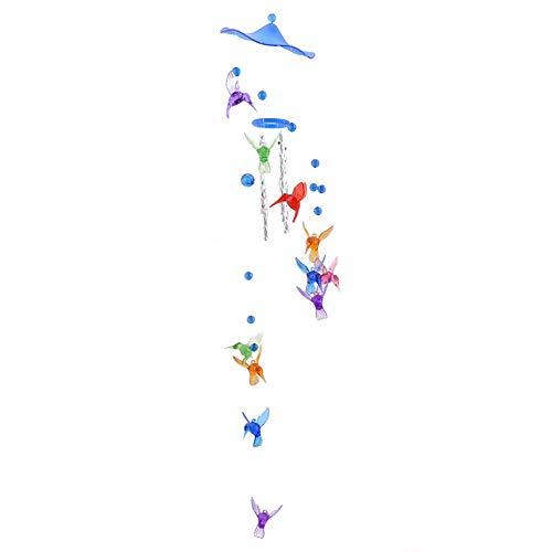 Ellepigy Drehen Handgemachte Runde Netto Windspiele Weihnachten Kreative Geschenke Zimmer Dekor (Kolibri blau) -