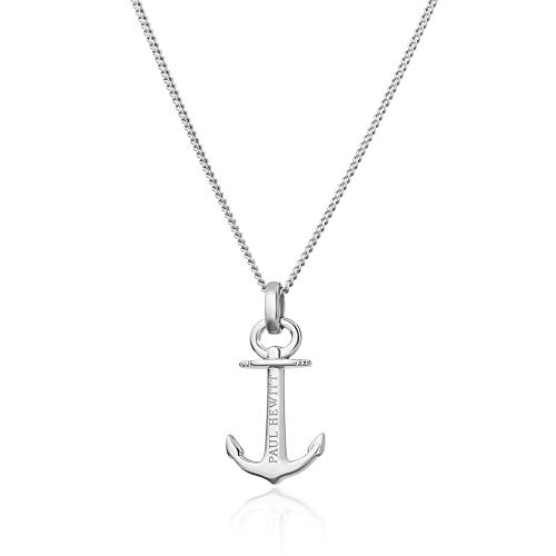 PAUL HEWITT Silberkette Damen 925 Anchor Spirit - Damen Halskette Silber, Echtsilber Kette mit Anker Anhänger