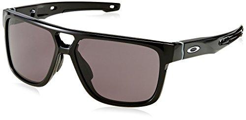 Oakley Herren Crossrange Patch 938201 60 Sonnenbrille, Schwarz (Polished Black/Warm Grey),