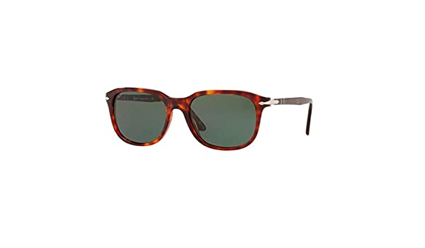 Persol Herren Sonnenbrille 0Po3186S 24/31, Braun (Havana/Green), 51