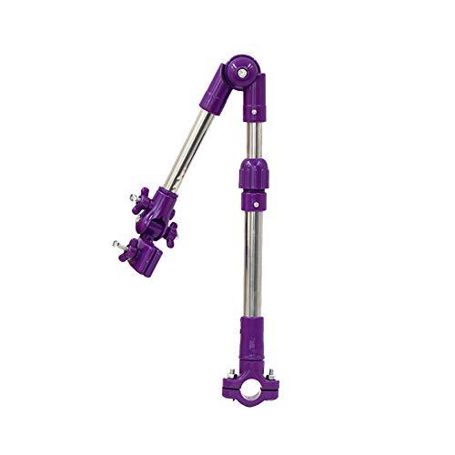 Naisicatar Einstellbare Fahrrad Regenschirm Halterung Halter Folding Teleskop Regenschirm Swivel-Anschluss Lenker Rahmenstandplatz für Fahrrad-Kinderwagen Baby-Stuhl 1pc Lila