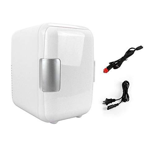 WEIWEITOE-DE Dual-Use-4L-Heimkühlschränke fürs Auto Leise, geräuscharm Auto Mini-Kühlschränke Gefrierschrank Kühlung Heizbox Kühlschrank, weiß,