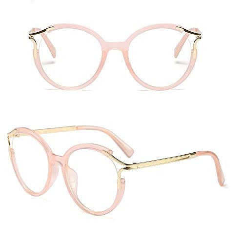 Mode-große quadratische Eyewear-Rahmen-Brillen-optische klare Linsen-Gläser. Accessoires (Farbe : Rosa)