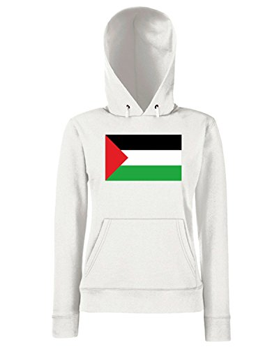 T-Shirtshock - Sweats a capuche Femme TM0220 Palestina flag Blanc