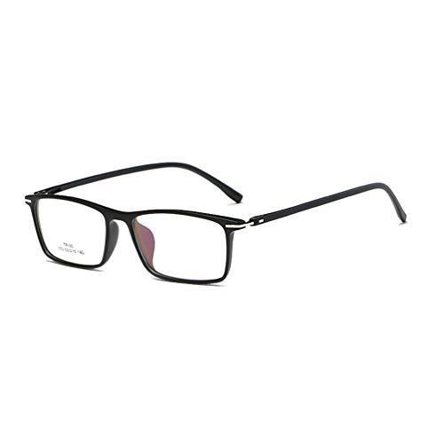 Embryform Klassische Nerdbrille Vintage Look clear lens- Brille Extra Schmaler Rahmen! Slim Rechteck Nerd Clear Brille
