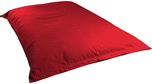 BigDean Riesensitzsack 1,4 x 1,8 m XL Sitzsack Rot (gefüllt mit 400 Liter 1A...