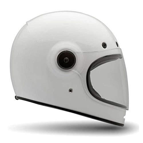 Bell Helmets Casco Moto Bullitt Bianco Integrale Vintage Size L