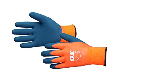 OX ox-s483909 Wasserdicht Thermo-Latex Handschuh, Orange/Blau, Größe 9/Large
