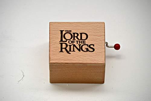 Caja de música hecha con madera de calidad con la melodía de El Señor de los Anillos. Envuelta para regalo.