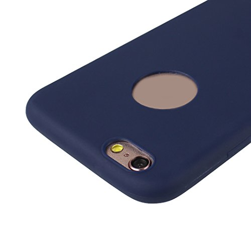 iPhone 6S Plus Hülle Dünn Silikon, Asnlove 2 Pack Handy Schutzhülle für Apple iPhone 6 Plus / 6S Plus Hülle TPU Silikon Backcover Case Handytasche Einfarbig Telefon-Kasten Tasche Schutz Cover Design T Color-2