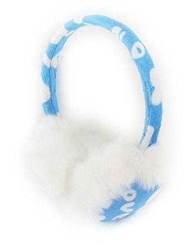 Winter Warmers Lady blanc imprimé coeurs Earlap cache-cache Bleu