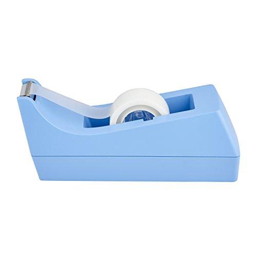 Scotch C38T810 Tischabroller für Klebefilm, inklusiv 1 Rolle, Klebeband, 19 mm x 8.89 m, hellblau