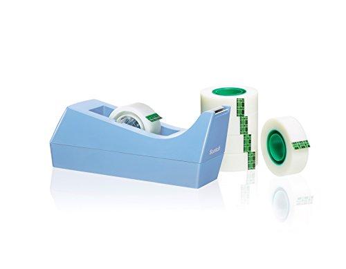 Scotch SM6-B-EU - Dispensador cinta con 6 cintas adhesivas, color azul verdoso