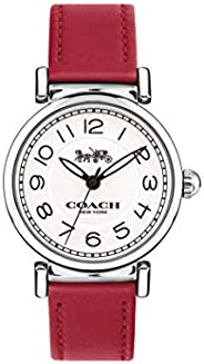 Coach Women'S White Dial Red Calfskin Watch - 1450
