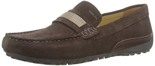 Geox Uomo Snake MOCassino C, Mocassins (loafers) Homme, Marron (Brown C0013), 44 EU