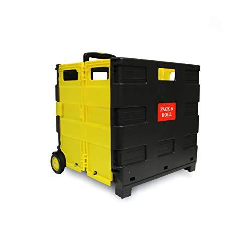 LANZZAS Einkaufstrolley Einkaufskorb Einkaufwagen Trolley Korb mit Rollen ohne Deckel faltbar klappbar bis 35kg