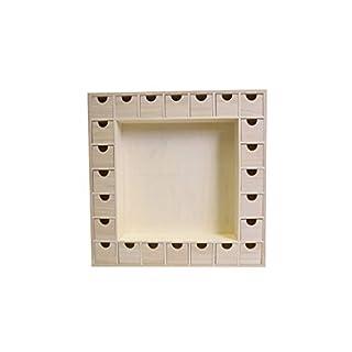 Artemio Square Wooden Advent Calendar, 39 x 39, 5 x 6, 5 cm