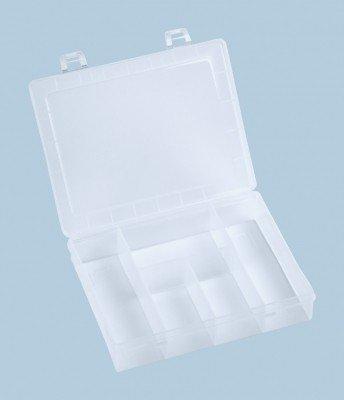 Hünersdorff Assorted Boxes Mini Plastic 5Compartments–Transparent, 1Piece, 606100